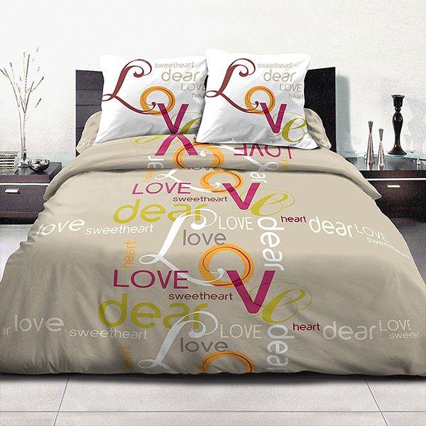 parure de lit achat housse de couette 220x240 100 coton. Black Bedroom Furniture Sets. Home Design Ideas