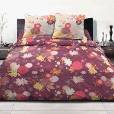 Parure housse de couette 220x240 cm 100% coton Fleurs d'été