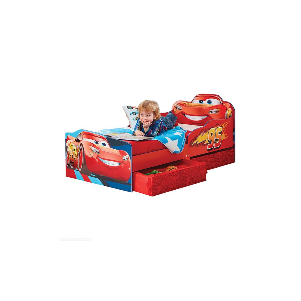 lit enfant achat lit flash mcqueen avec rangements pas. Black Bedroom Furniture Sets. Home Design Ideas