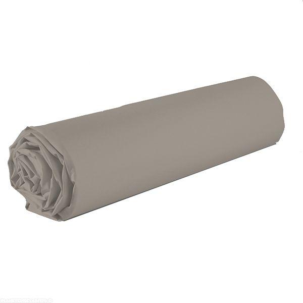 Drap housse 100% coton 160x200 cm Gris clair