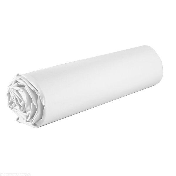 Drap housse coton 140x190 cm Blanc