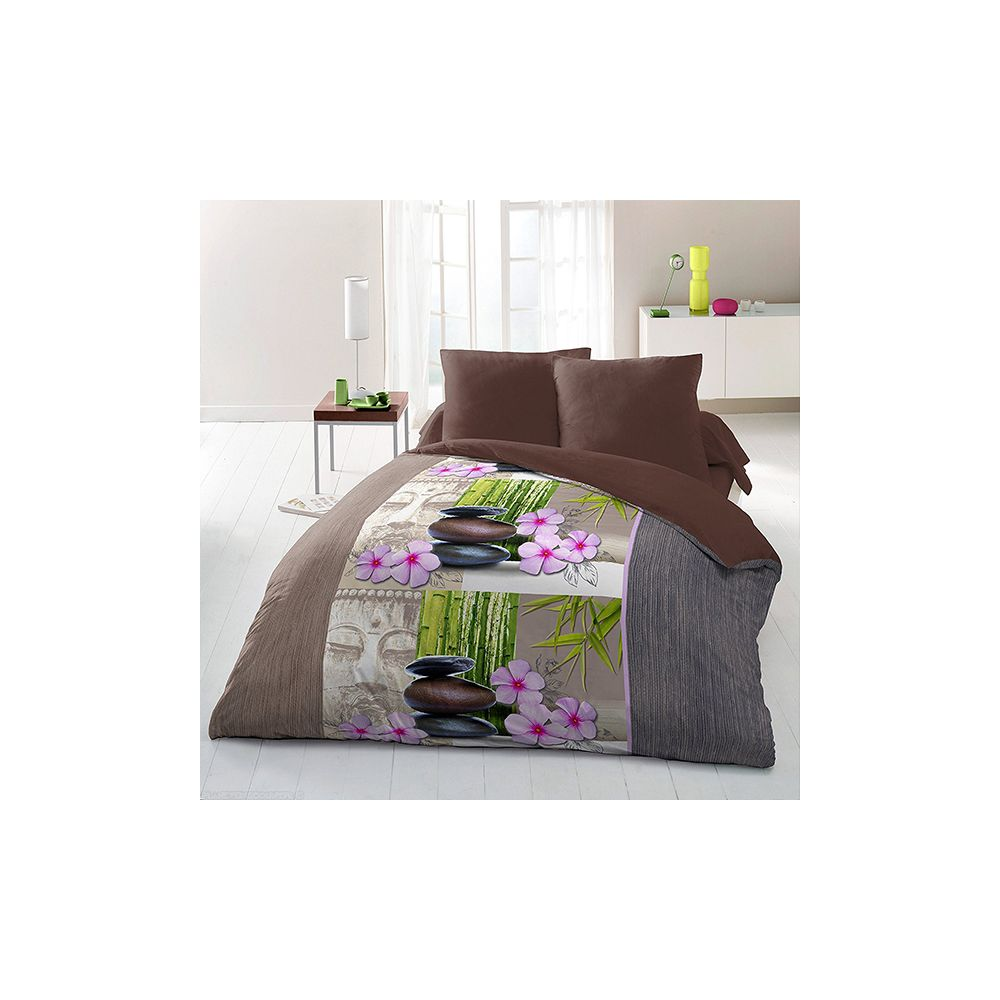 achat parure de couette 220x240 cm microfibre bien tre pas cher. Black Bedroom Furniture Sets. Home Design Ideas