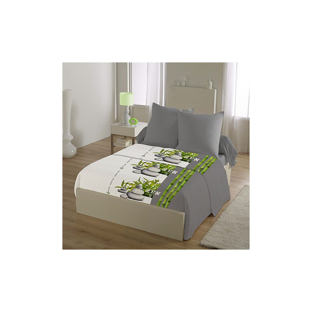 parure drap house 4 pi ces microfibre 240x300 cm zen. Black Bedroom Furniture Sets. Home Design Ideas