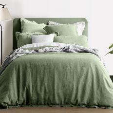 Housse de couette 260x240 cm Lin Oil Green