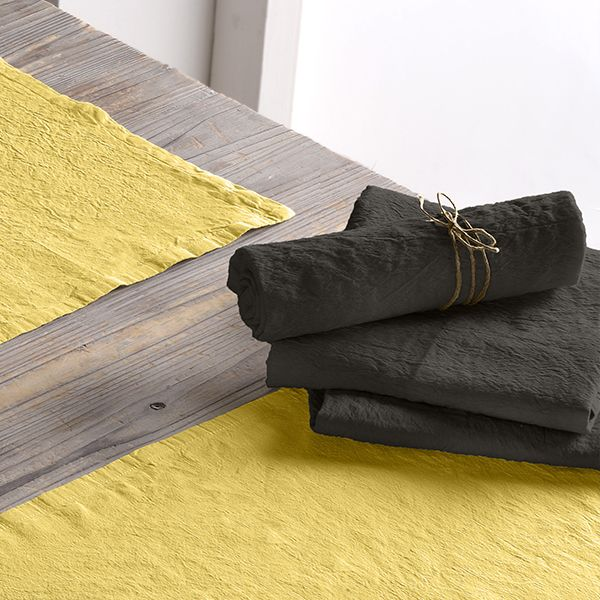 Lot de 2 serviette 45x45 Lin métis - Gris foncé