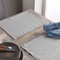 Lot de 2 set de table 30x40 Lin métis - Gris clair
