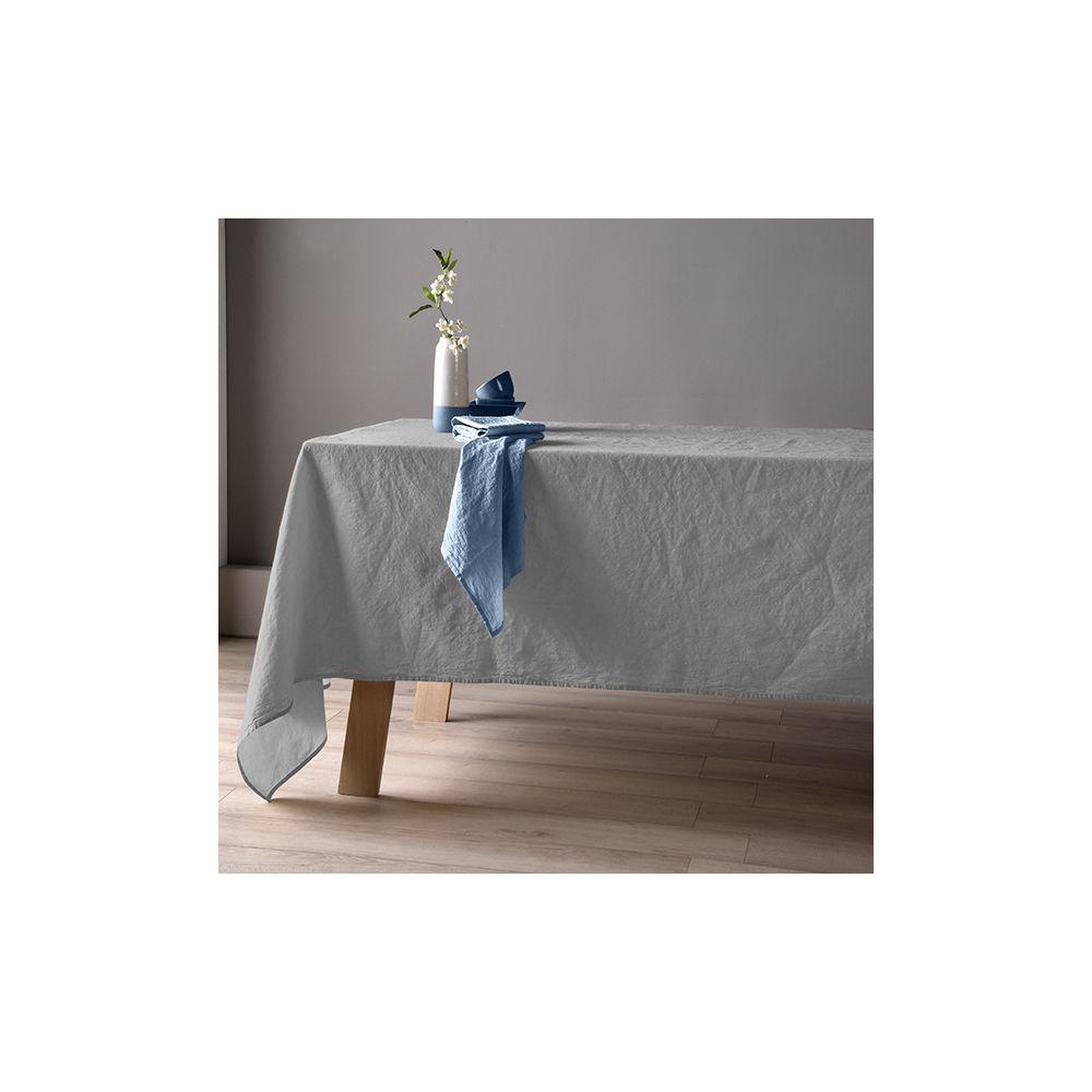 Nappe 160x160 Lin métis - Gris clair. La nappe 60% Lin 40% Coton apporte le coté chic et coloré à votre table, Nappe Baton Rouge...
