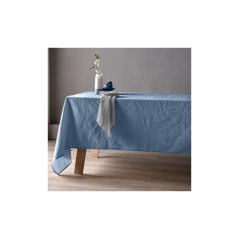 Nappe 160x160 Lin métis - Bleu pétrole. La nappe 60% Lin 40% Coton apporte le coté chic et coloré à votre table, Nappe Baton Rouge...