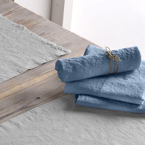 Lot de 2 serviette 45x45 Lin métis - Bleu pétrole