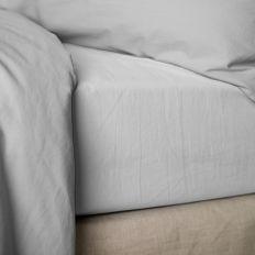 Drap housse 140x190 cm Percale Blanc