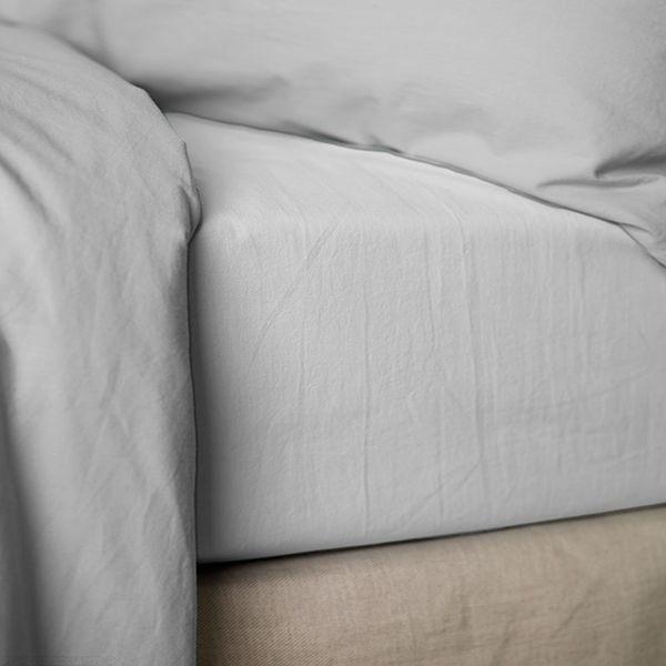 Drap housse 160x200 cm Percale Blanc