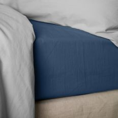 Drap housse 160x200 cm Percale Ensign Blue