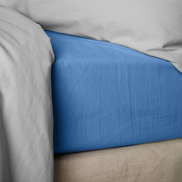 Drap housse 140x190 cm Percale Lake