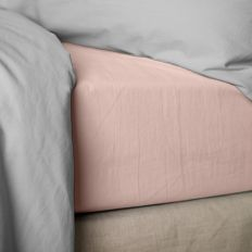 achat drap housse 160x200 cm percale rose lavis pas cher. Black Bedroom Furniture Sets. Home Design Ideas