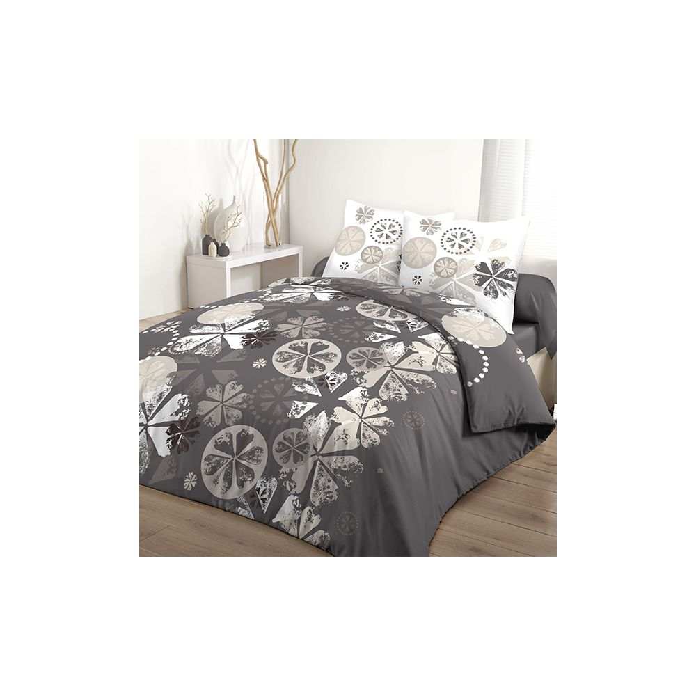 achat parure de couette 100 coton 240x260 cm mariella pas. Black Bedroom Furniture Sets. Home Design Ideas