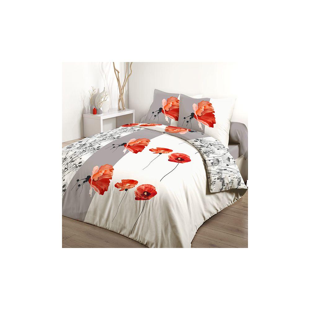 achat parure de couette 220x240 cm 100 coton aviva pas cher. Black Bedroom Furniture Sets. Home Design Ideas