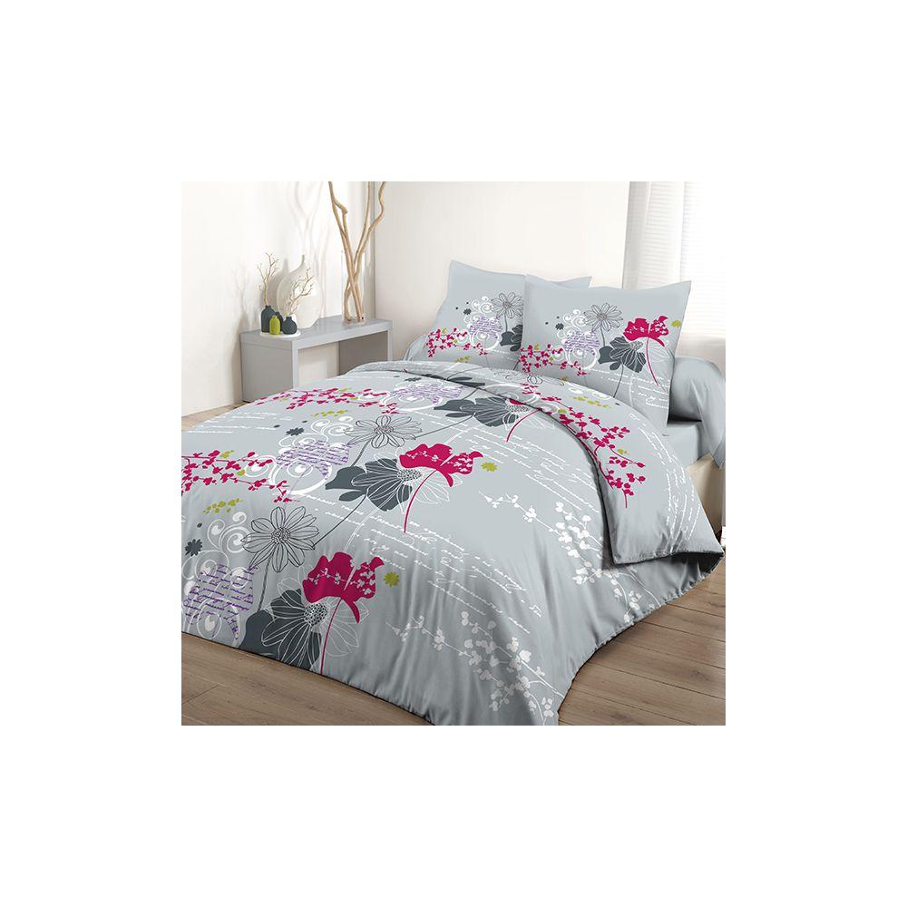 achat parure de lit 3 pi ces 220x240 cm 100 coton elona pas cher. Black Bedroom Furniture Sets. Home Design Ideas