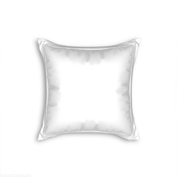 Taie d'oreiller avec volant 65x65 cm blanc