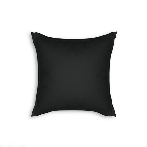 Taie d'oreiller avec volant 65x65 cm Noir