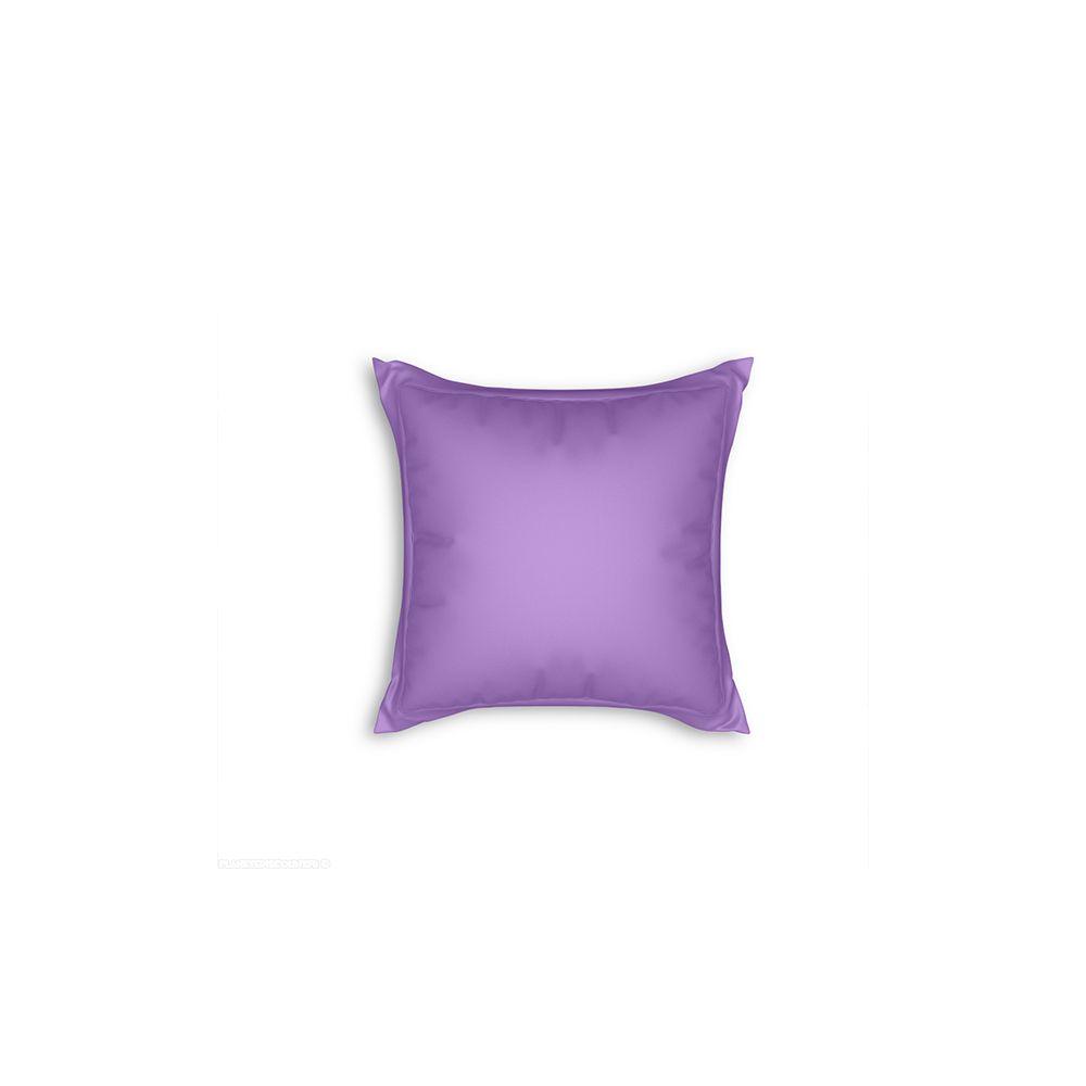 achat taie d 39 oreiller avec volant 65x65 cm prune pas cher. Black Bedroom Furniture Sets. Home Design Ideas