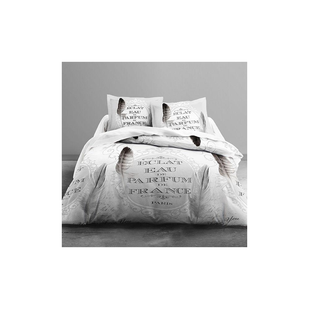 achat parure de couette 100 coton eau de parfum 3 pi ces pas cher. Black Bedroom Furniture Sets. Home Design Ideas