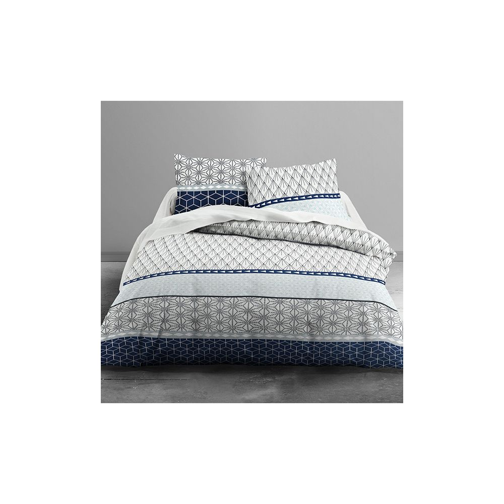 achat parure de lit 100 coton kuat 3 pi ces pas cher. Black Bedroom Furniture Sets. Home Design Ideas