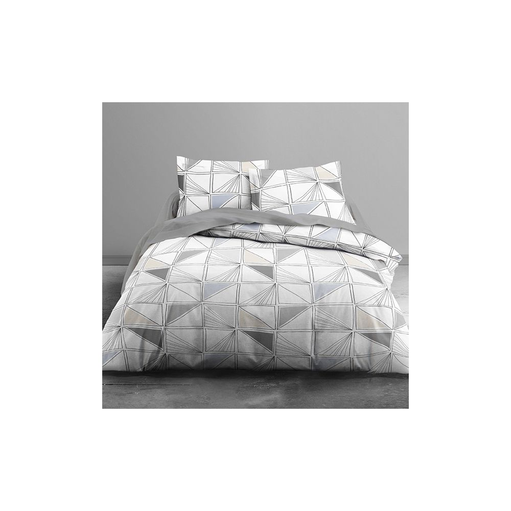achat parure de couette selonia 100 coton 3 pi ces pas cher. Black Bedroom Furniture Sets. Home Design Ideas