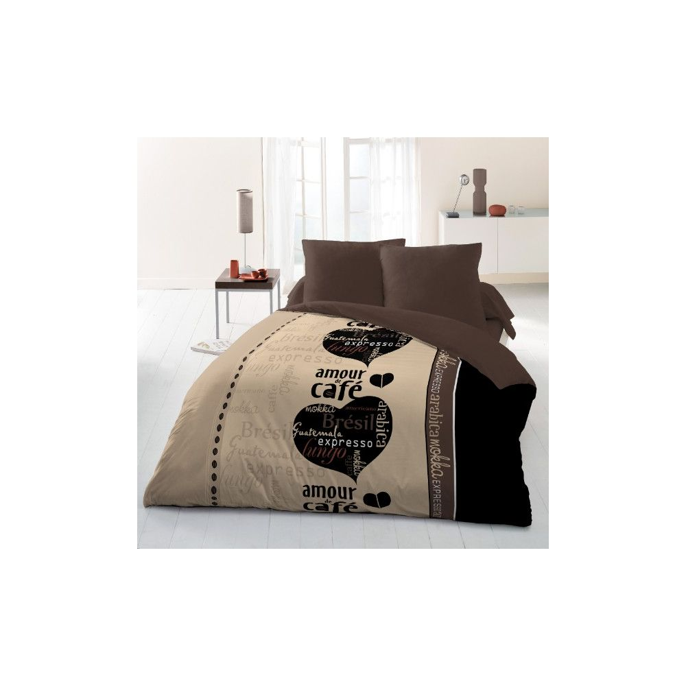 achat couette imprim e 220x240 cm 400 gr m caf du monde pas cher. Black Bedroom Furniture Sets. Home Design Ideas