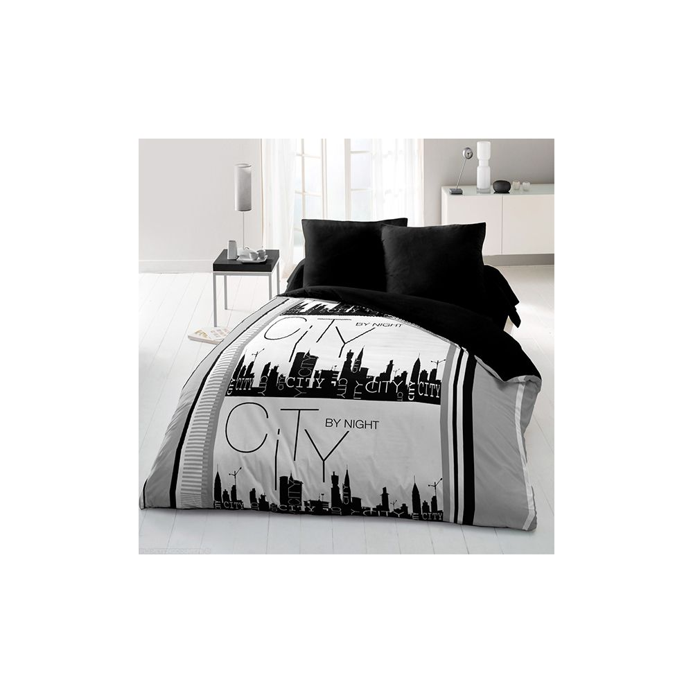 achat couette 220x240 cm 400 gr m city by night pas cher. Black Bedroom Furniture Sets. Home Design Ideas