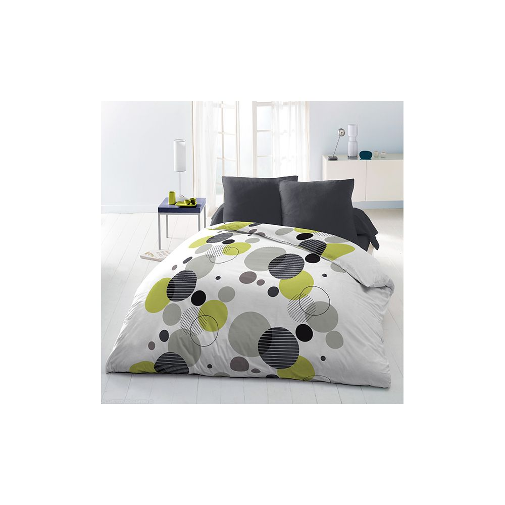 achat parure de couette microfibre 220x240 cm chupps pas cher. Black Bedroom Furniture Sets. Home Design Ideas