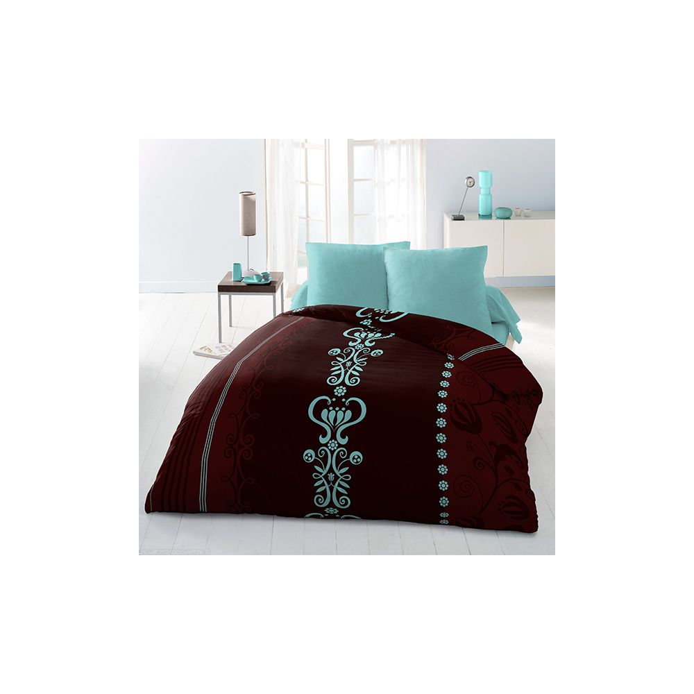 achat parure de couette microfibre 220x240 cm janna pas cher. Black Bedroom Furniture Sets. Home Design Ideas