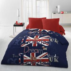 Parure de couette microfibre 220x240 cm Dream In London