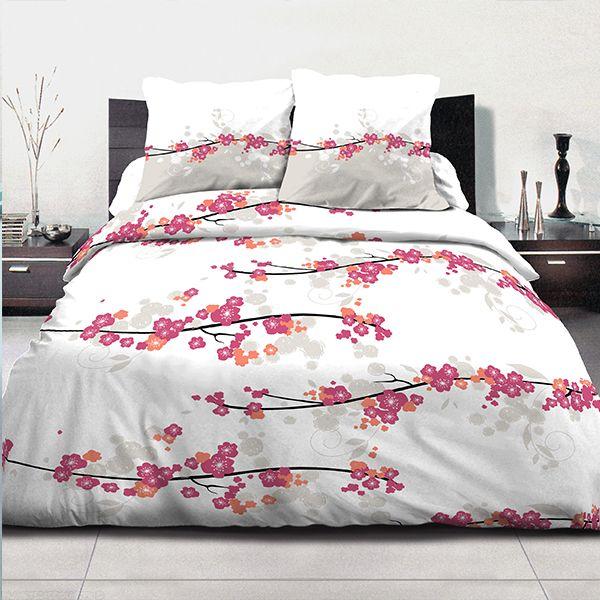 achat parure de couette coton 220x240 cm miss fleurs pas cher. Black Bedroom Furniture Sets. Home Design Ideas