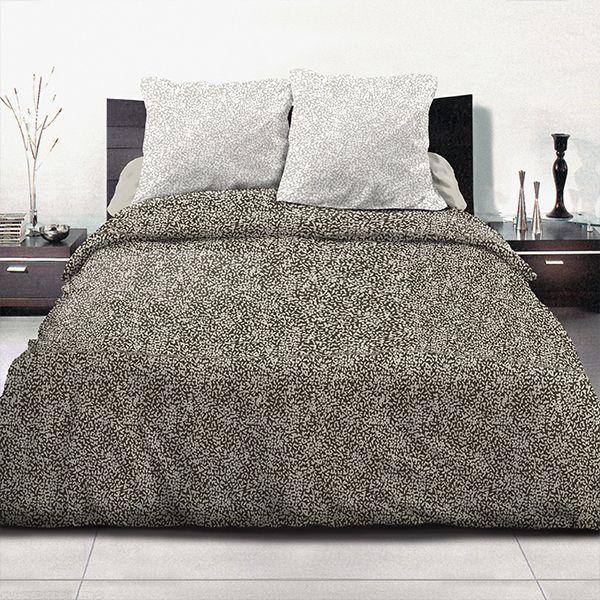 achat parure de couette coton 220x240 cm indara taupe pas cher. Black Bedroom Furniture Sets. Home Design Ideas