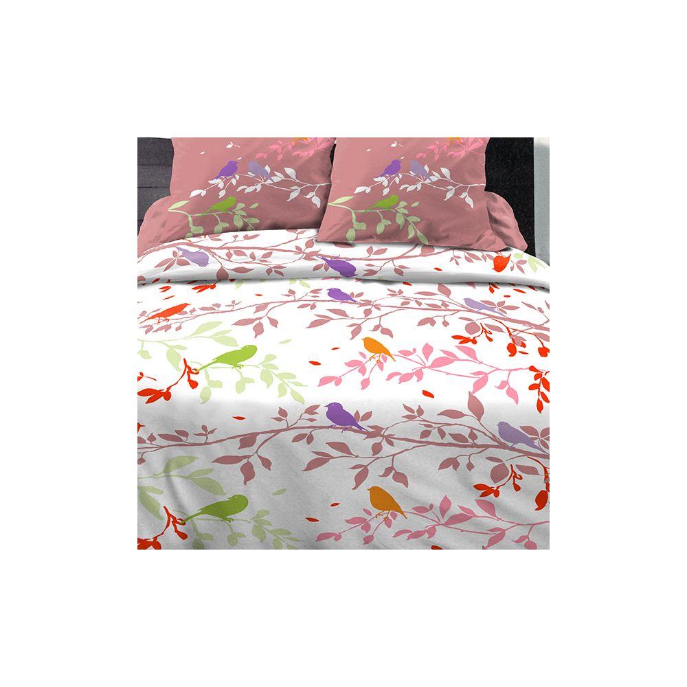 achat parure de couette coton 220x240 cm branche automne. Black Bedroom Furniture Sets. Home Design Ideas