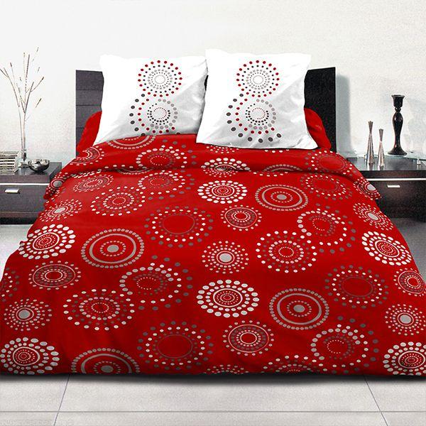 Parure de couette coton 220x240 cm Feu D'artifice Red