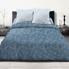 Parure de couette coton 240x260 cm Indara Bleu