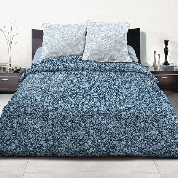 achat parure de couette coton 240x260 cm indara bleu pas cher. Black Bedroom Furniture Sets. Home Design Ideas