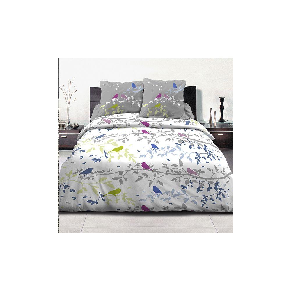 achat parure de couette coton 240x260 cm branche pas cher. Black Bedroom Furniture Sets. Home Design Ideas