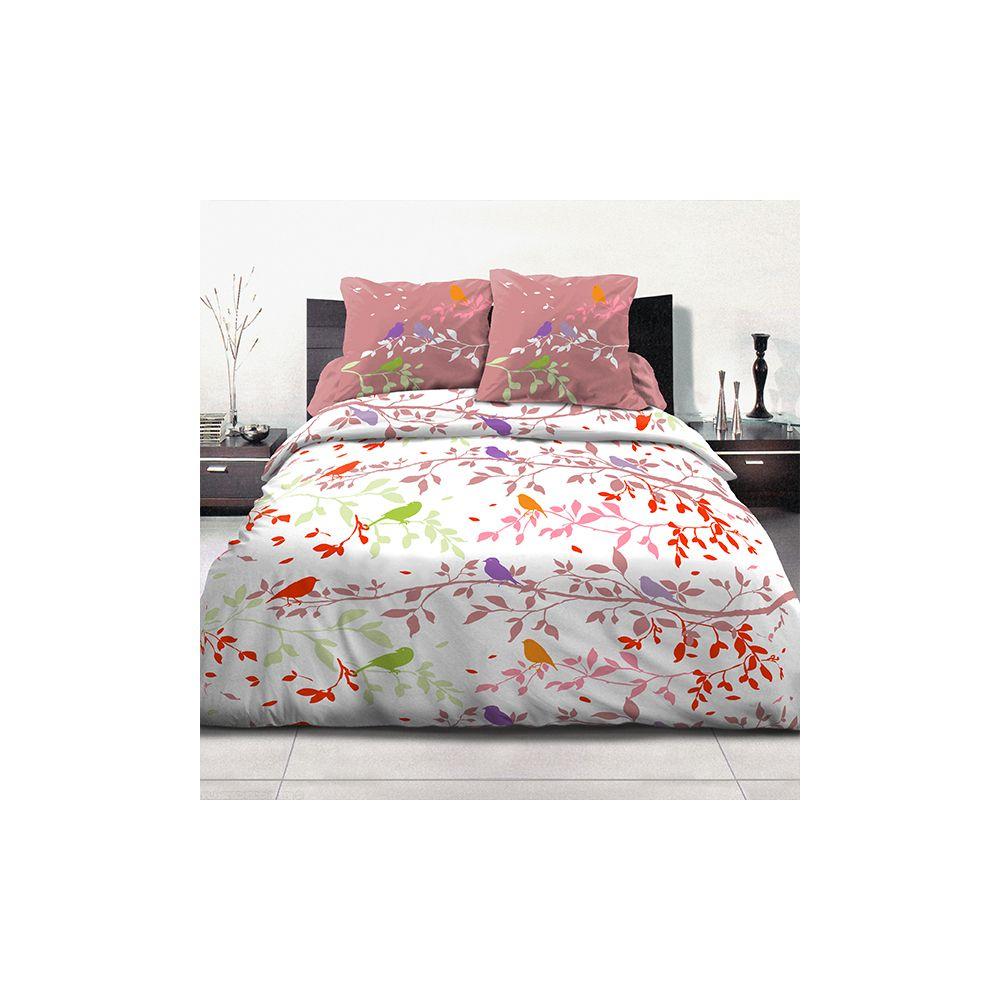 achat parure de couette coton 240x260 cm branche automne pas cher. Black Bedroom Furniture Sets. Home Design Ideas