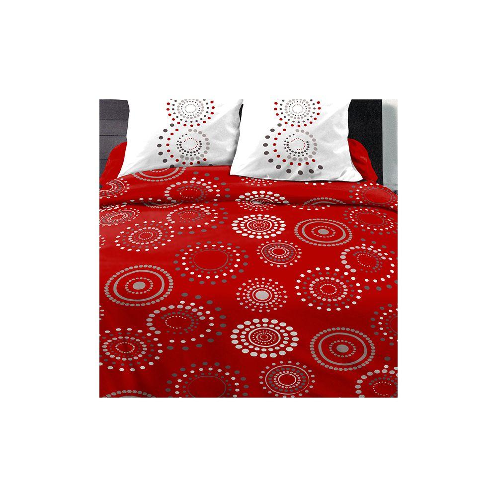 achat parure de couette coton 240x260 cm feu d 39 artifice. Black Bedroom Furniture Sets. Home Design Ideas