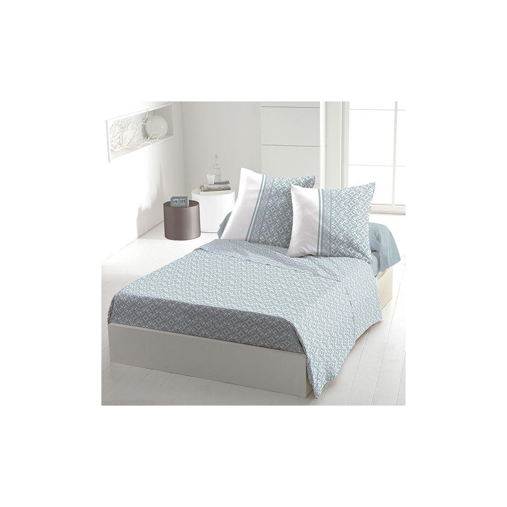 achat parure de drap coton 240x300 cm anna ciel pas cher. Black Bedroom Furniture Sets. Home Design Ideas