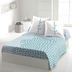 Parure de drap coton 240x300 cm Ayna Turquoise