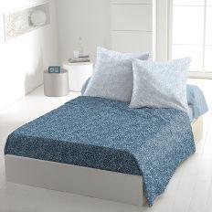 Parure de drap coton 240x300 cm Indara Bleu