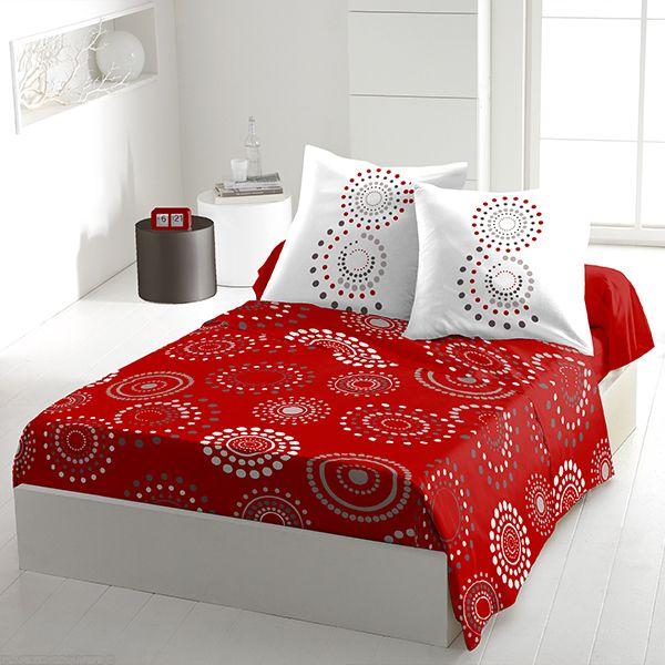 Parure de drap coton 240x300 cm Feu D'artifice Red