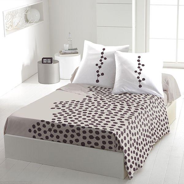 achat parure de drap 5 pi ces coton 240x300 cm ayna taupe pas cher. Black Bedroom Furniture Sets. Home Design Ideas
