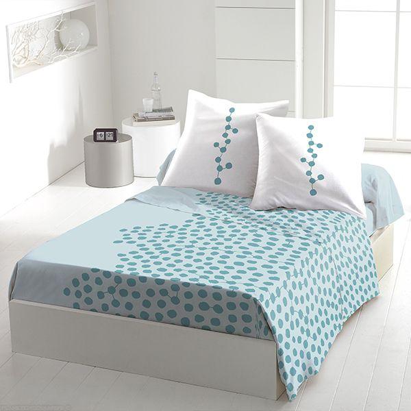 Parure de drap 5 pièces coton 240x300 cm Ayna Turquoise