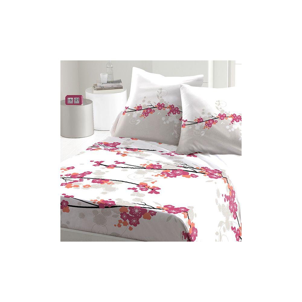achat parure de drap 5 pi ces coton 240x300 cm miss fleurs pas cher. Black Bedroom Furniture Sets. Home Design Ideas