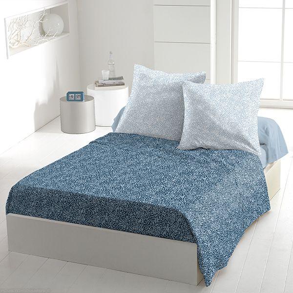 Parure de drap 5 pièces coton 240x300 cm Indara Bleu