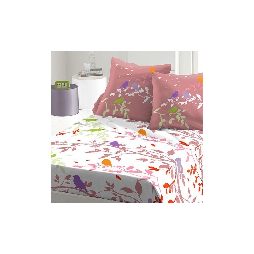 achat parure de drap 5 pi ces coton 240x300 cm branche automne pas cher. Black Bedroom Furniture Sets. Home Design Ideas